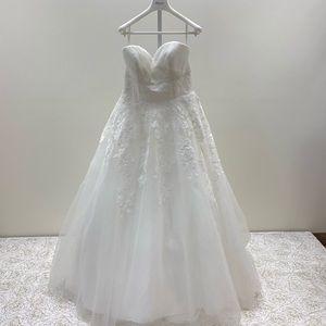 NWT White One Designer Ballgown Wedding Dress